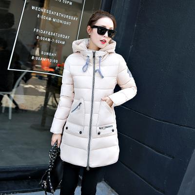Winter Long Down Jacket Top Quality Pakas Women Long Sleeve Hooded Parka Winter Plus Size-Jackets & Coats-Sweethearts Store-rice white-XL-EpicWorldStore.com