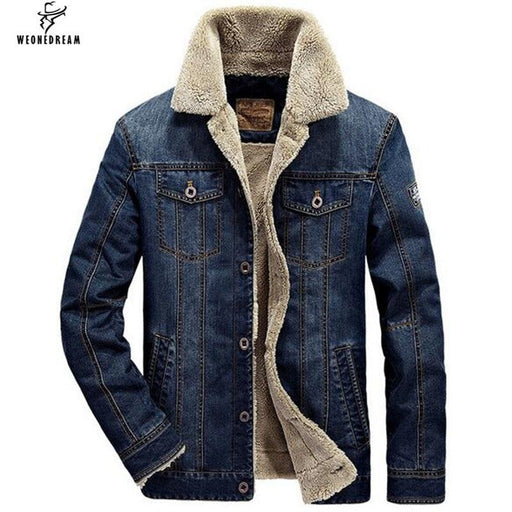 Winter Mens Jacket And Coats Fashion Mens Jeans Jacket Brand Denim Thick Warm Outwear Male Cowboy-Jackets-Neteasy Apparel Co.,Ltd-Blue-M-EpicWorldStore.com