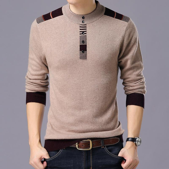 New Winter Thick Warm Sweaters O-Neck Wool Sweater Men