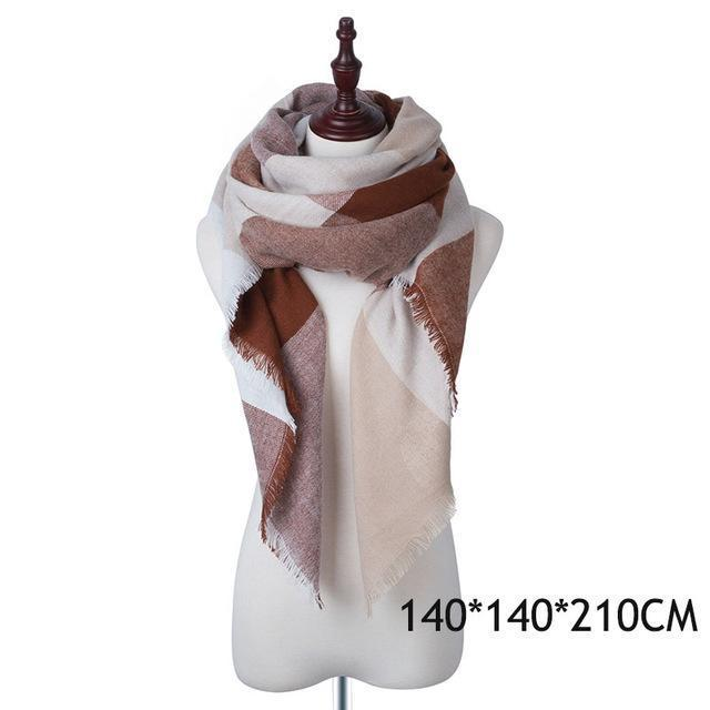Winter Plaid Womens Scarf Brand Female Cashmere Shawl Winter Scarf For Women Warm Scarves-Accessories-WISHCLUB Store-A-EpicWorldStore.com