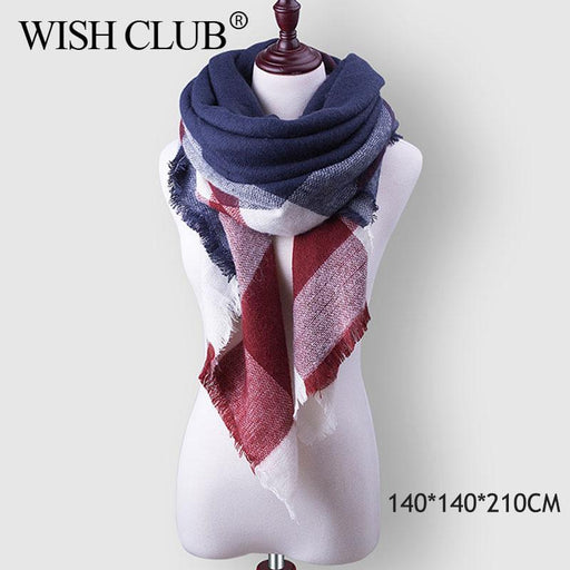 Winter Plaid Womens Scarf Brand Female Cashmere Shawl Winter Scarf For Women Warm Scarves-Accessories-WISHCLUB Store-B1-EpicWorldStore.com
