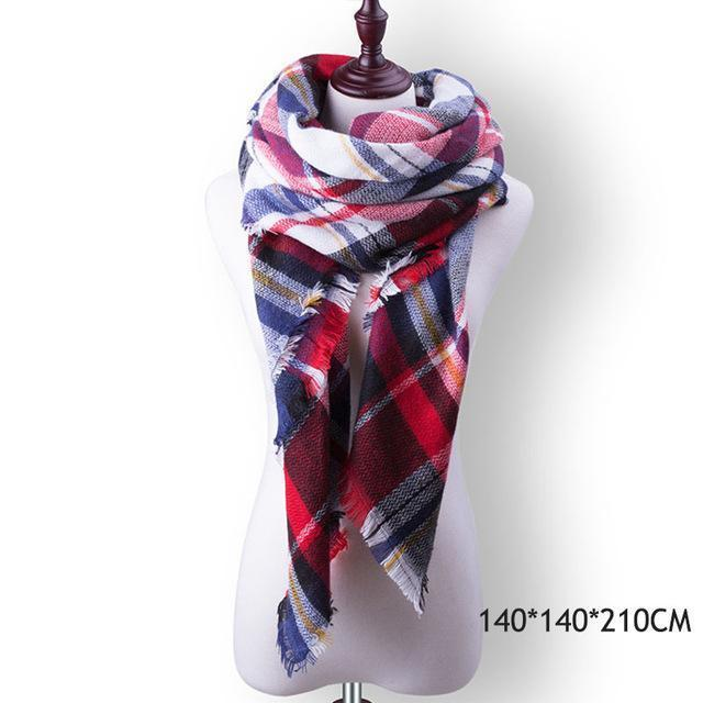 Winter Plaid Womens Scarf Brand Female Cashmere Shawl Winter Scarf For Women Warm Scarves-Accessories-WISHCLUB Store-B12-EpicWorldStore.com