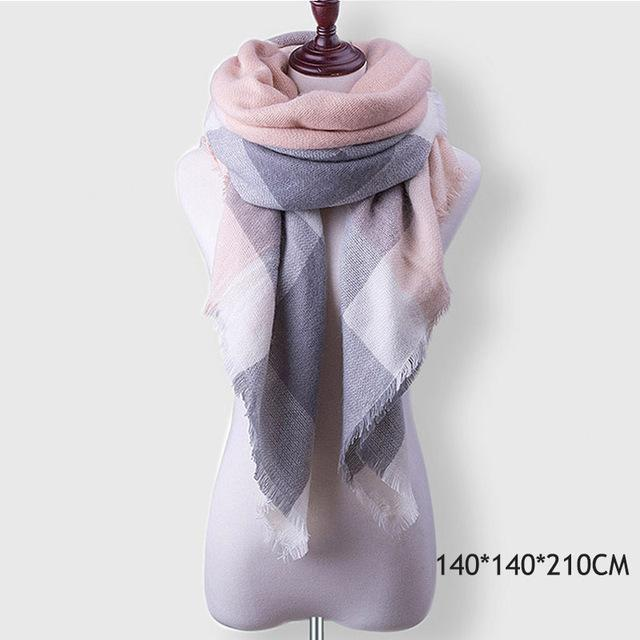 Winter Plaid Womens Scarf Brand Female Cashmere Shawl Winter Scarf For Women Warm Scarves-Accessories-WISHCLUB Store-B16-EpicWorldStore.com
