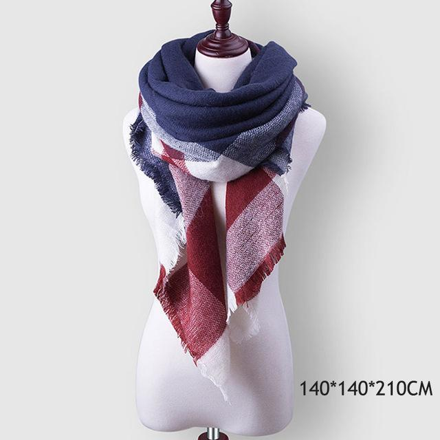Winter Plaid Womens Scarf Brand Female Cashmere Shawl Winter Scarf For Women Warm Scarves-Accessories-WISHCLUB Store-B2-EpicWorldStore.com