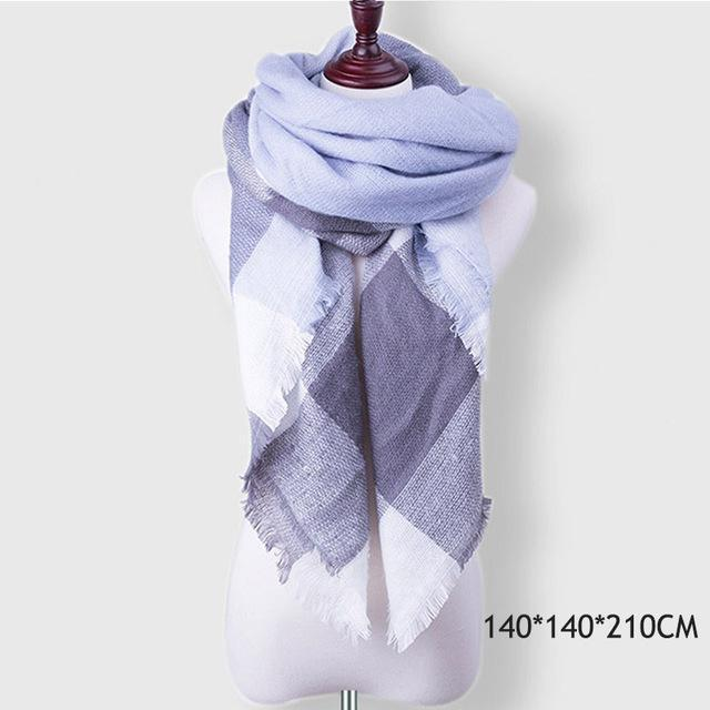 Winter Plaid Womens Scarf Brand Female Cashmere Shawl Winter Scarf For Women Warm Scarves-Accessories-WISHCLUB Store-B26-EpicWorldStore.com
