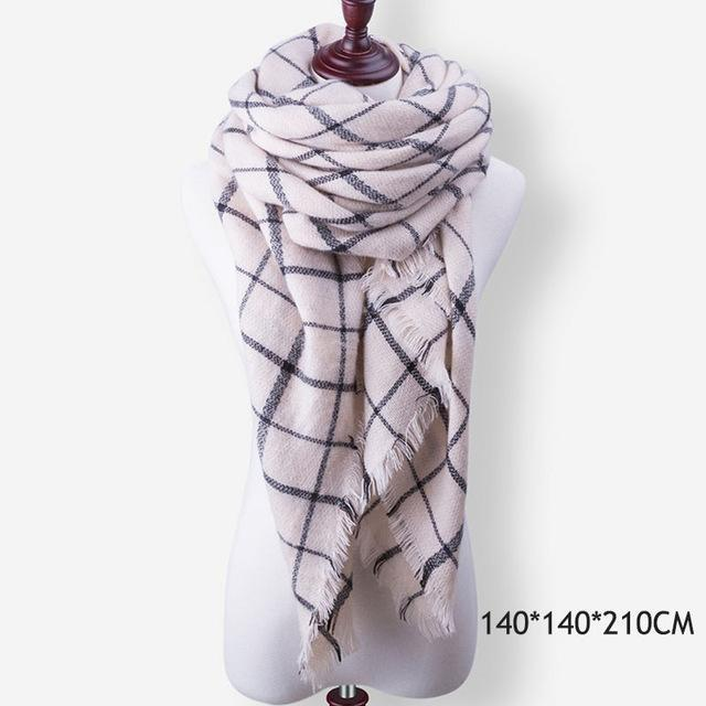 Winter Plaid Womens Scarf Brand Female Cashmere Shawl Winter Scarf For Women Warm Scarves-Accessories-WISHCLUB Store-B42-EpicWorldStore.com