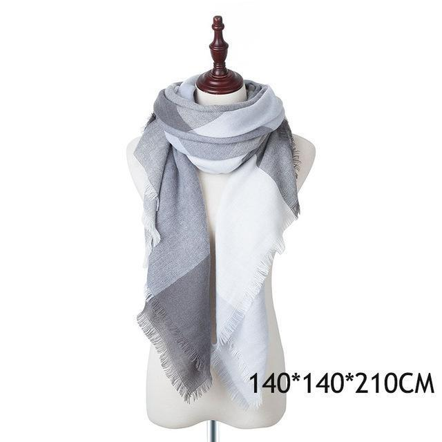 Winter Plaid Womens Scarf Brand Female Cashmere Shawl Winter Scarf For Women Warm Scarves-Accessories-WISHCLUB Store-C-EpicWorldStore.com