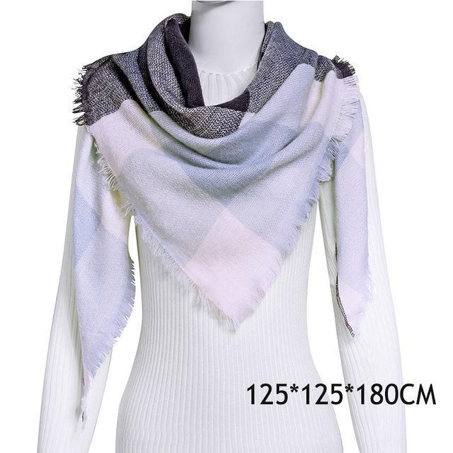 Winter Plaid Womens Scarf Brand Female Cashmere Shawl Winter Scarf For Women Warm Scarves-Accessories-WISHCLUB Store-C1-EpicWorldStore.com