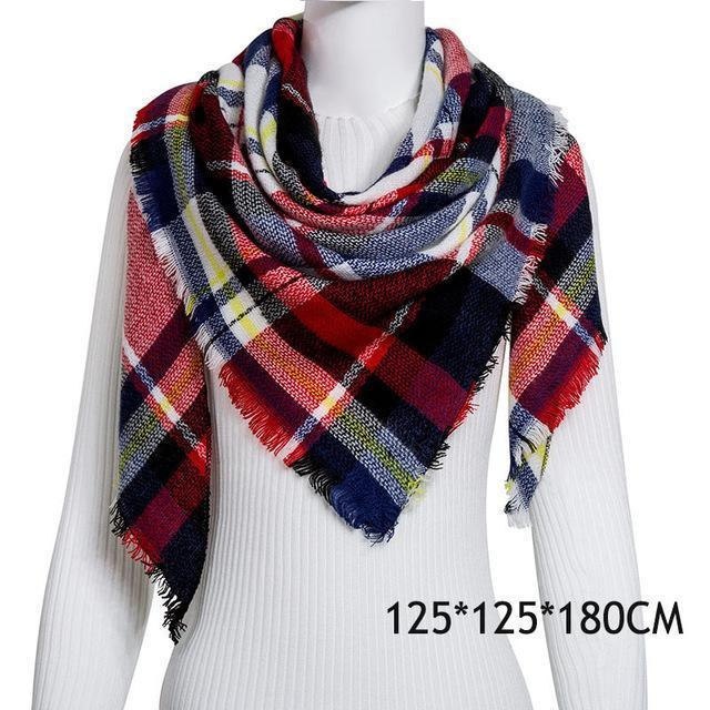 Winter Plaid Womens Scarf Brand Female Cashmere Shawl Winter Scarf For Women Warm Scarves-Accessories-WISHCLUB Store-C12-EpicWorldStore.com