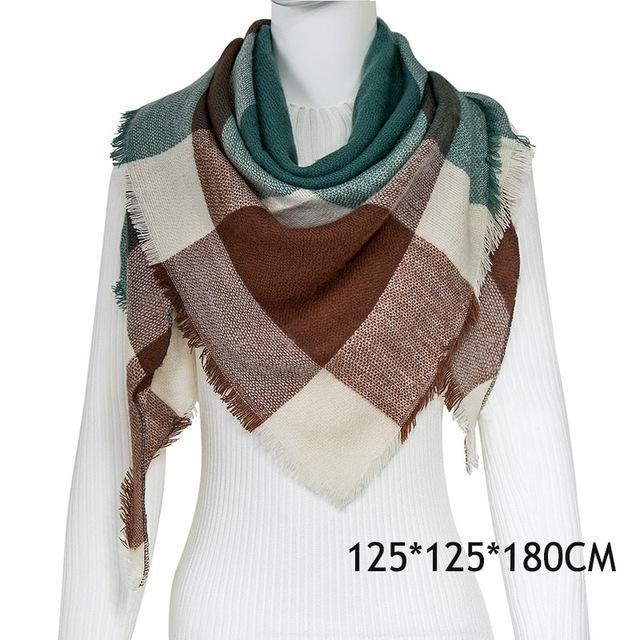 Winter Plaid Womens Scarf Brand Female Cashmere Shawl Winter Scarf For Women Warm Scarves-Accessories-WISHCLUB Store-C14-EpicWorldStore.com