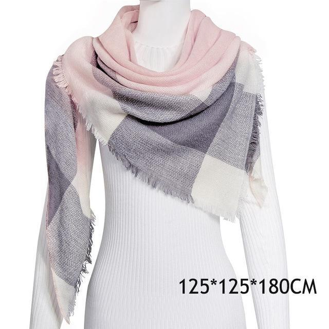 Winter Plaid Womens Scarf Brand Female Cashmere Shawl Winter Scarf For Women Warm Scarves-Accessories-WISHCLUB Store-C16-EpicWorldStore.com