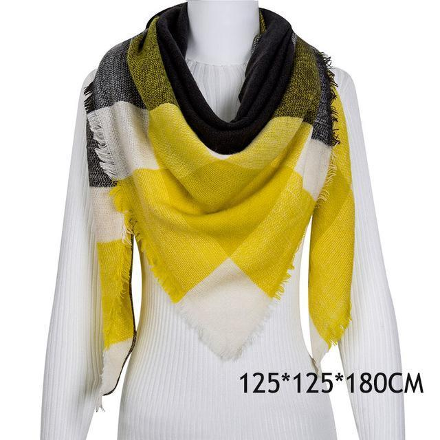 Winter Plaid Womens Scarf Brand Female Cashmere Shawl Winter Scarf For Women Warm Scarves-Accessories-WISHCLUB Store-C17-EpicWorldStore.com