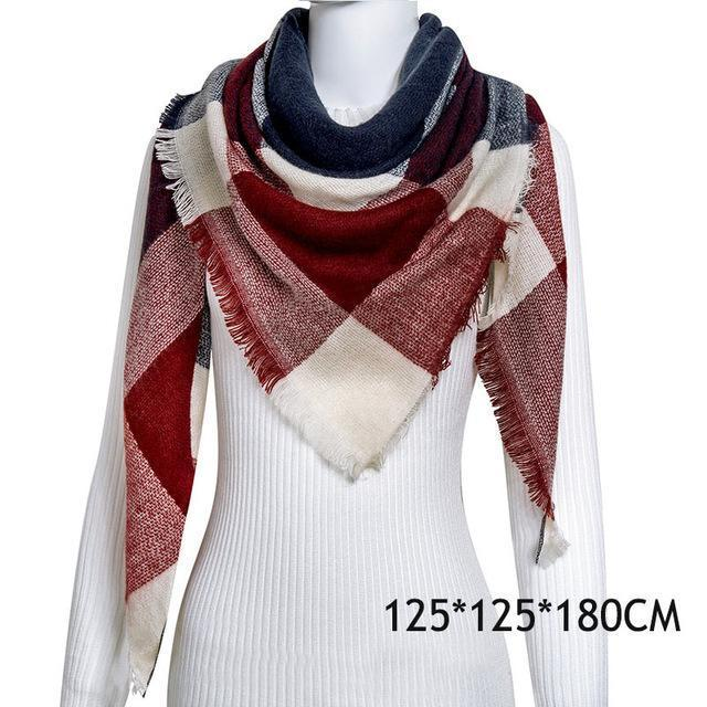 Winter Plaid Womens Scarf Brand Female Cashmere Shawl Winter Scarf For Women Warm Scarves-Accessories-WISHCLUB Store-C2-EpicWorldStore.com