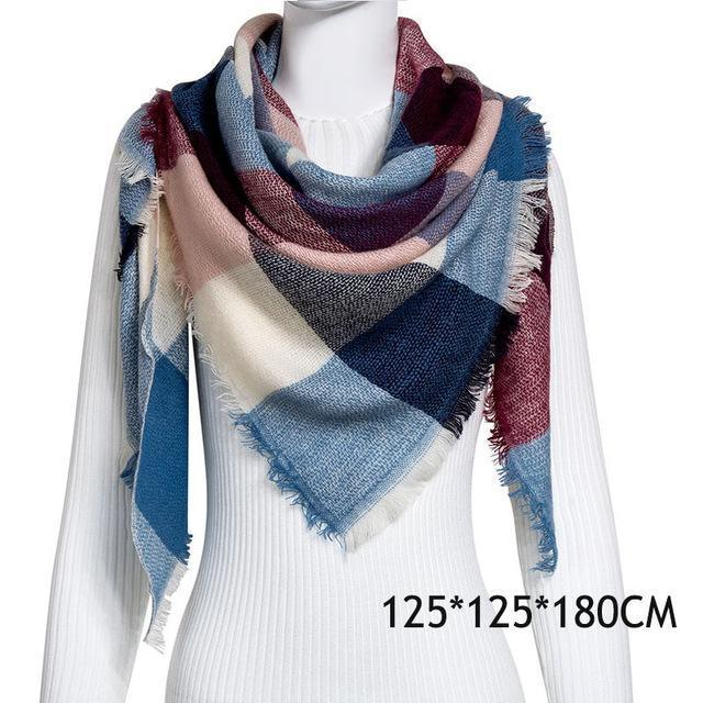 Winter Plaid Womens Scarf Brand Female Cashmere Shawl Winter Scarf For Women Warm Scarves-Accessories-WISHCLUB Store-C27-EpicWorldStore.com