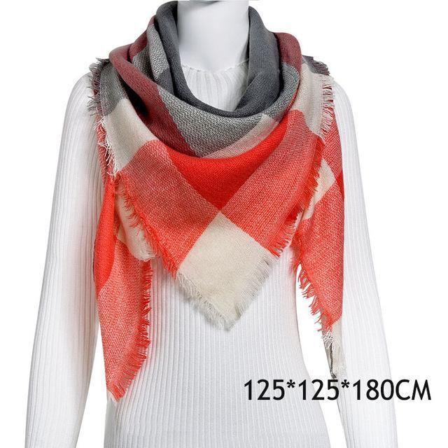 Winter Plaid Womens Scarf Brand Female Cashmere Shawl Winter Scarf For Women Warm Scarves-Accessories-WISHCLUB Store-C29-EpicWorldStore.com