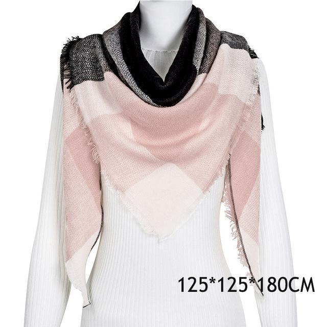 Winter Plaid Womens Scarf Brand Female Cashmere Shawl Winter Scarf For Women Warm Scarves-Accessories-WISHCLUB Store-C35-EpicWorldStore.com
