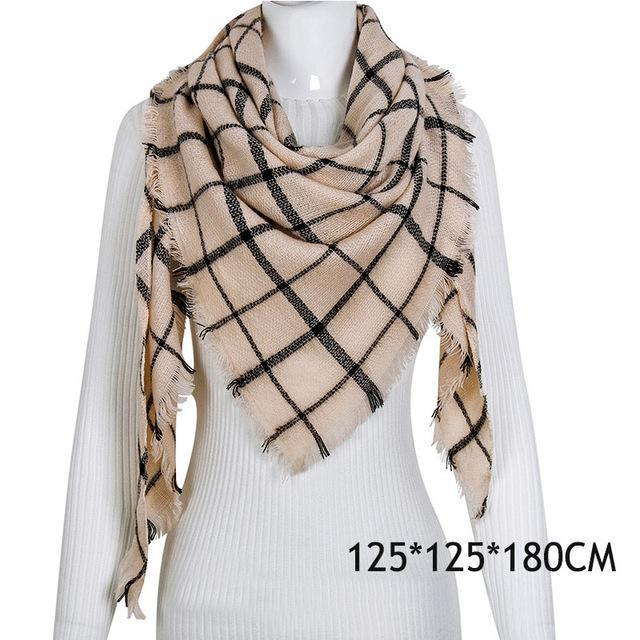 Winter Plaid Womens Scarf Brand Female Cashmere Shawl Winter Scarf For Women Warm Scarves-Accessories-WISHCLUB Store-C42-EpicWorldStore.com