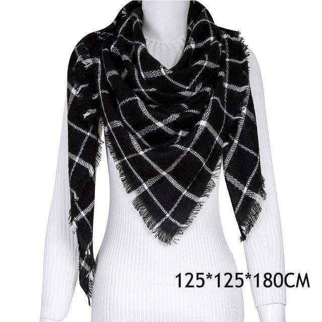Winter Plaid Womens Scarf Brand Female Cashmere Shawl Winter Scarf For Women Warm Scarves-Accessories-WISHCLUB Store-C43-EpicWorldStore.com
