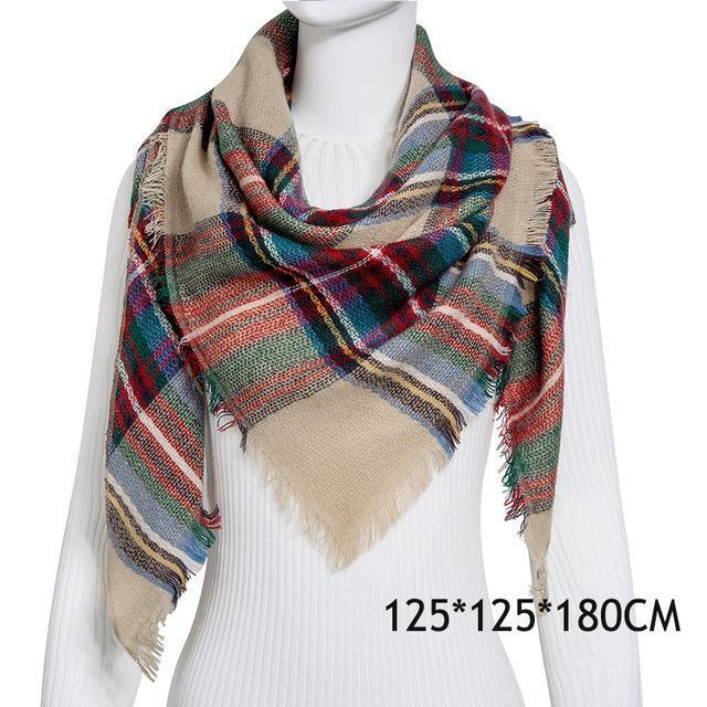 Winter Plaid Womens Scarf Brand Female Cashmere Shawl Winter Scarf For Women Warm Scarves-Accessories-WISHCLUB Store-C6-EpicWorldStore.com