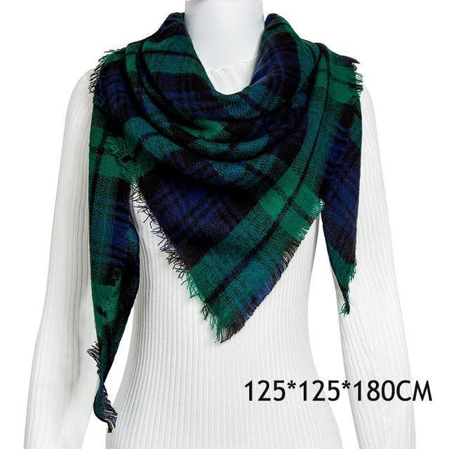 Winter Plaid Womens Scarf Brand Female Cashmere Shawl Winter Scarf For Women Warm Scarves-Accessories-WISHCLUB Store-C7-EpicWorldStore.com