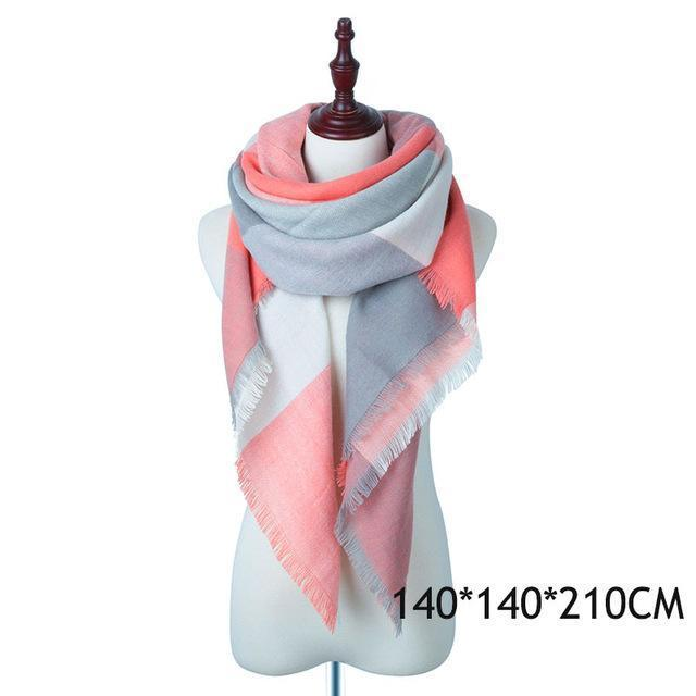 Winter Plaid Womens Scarf Brand Female Cashmere Shawl Winter Scarf For Women Warm Scarves-Accessories-WISHCLUB Store-D-EpicWorldStore.com