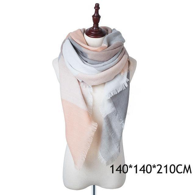 Winter Plaid Womens Scarf Brand Female Cashmere Shawl Winter Scarf For Women Warm Scarves-Accessories-WISHCLUB Store-E-EpicWorldStore.com
