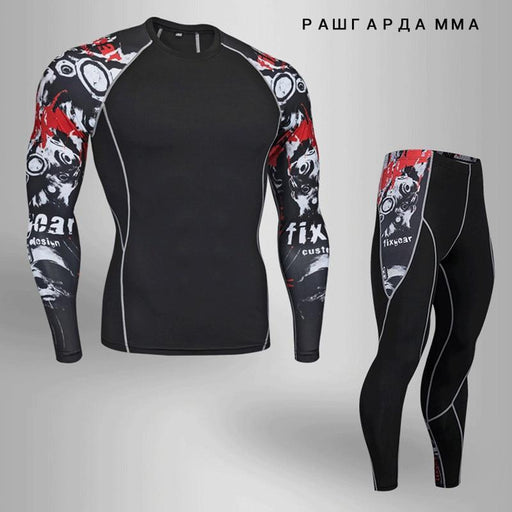 Winter Thermal Mens Underwear T-Shirts Leggings Men Clothing Thermal Underwear Rashgard Male-Men's Sets-South Valley Store-Photo Color-S-EpicWorldStore.com