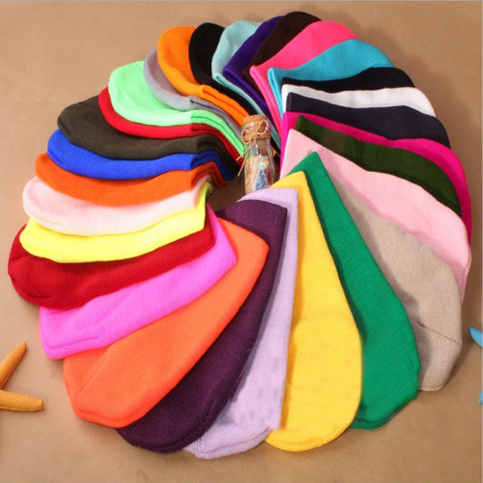 Winter Warm Hats Unisex Knitting Women Men Wool Fluorescence Color Tabby Solid Elastic Beanie-Accessories-FP Apparel Store-NO 1-EpicWorldStore.com