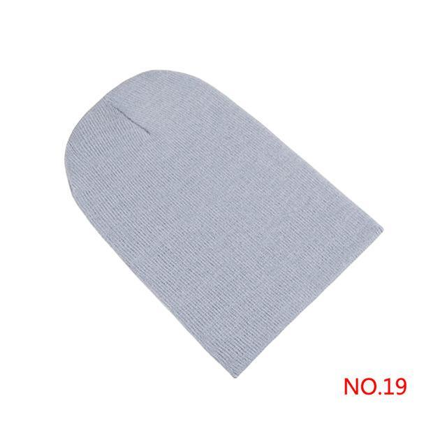 Winter Warm Hats Unisex Knitting Women Men Wool Fluorescence Color Tabby Solid Elastic Beanie-Accessories-FP Apparel Store-NO 19-EpicWorldStore.com