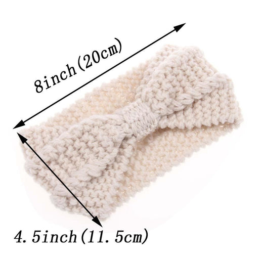 Winter Warmer Ear Knitted Headband Turban For Lady Women Crochet Bow Stretch Hairband Headwrap-Accessories-Danzuo Boutique Shop-Black-EpicWorldStore.com