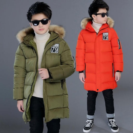 Winter Windproof Warm Kids Coat Waterproof Children Outerwear Boys Jackets-Down & Parkas-Onepoem Store-Black-4T-EpicWorldStore.com