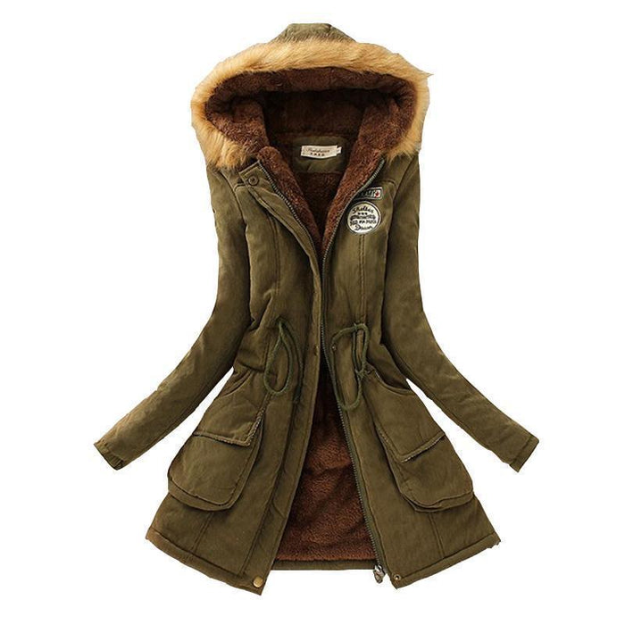 Winter Women Coat Parka Casual Outwear Military Hooded Coat Woman Clothes Fur Coats Female-Jackets & Coats-SENYE SPORTS-Army Green-S-EpicWorldStore.com