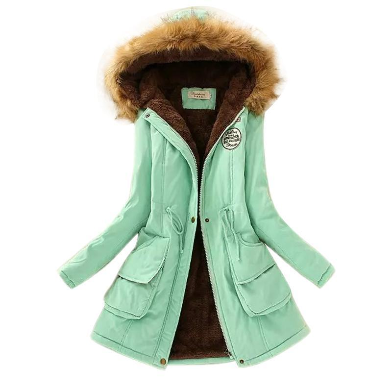 Winter Women Coat Parka Casual Outwear Military Hooded Coat Woman Clothes Fur Coats Manteau-Jackets & Coats-ShuYun Co.,Ltd. Store-Black-S-EpicWorldStore.com
