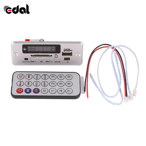Wireless Mp3 Player Decoder Board Audio Module Usb Tf Radio For Car Red Digital Led With Remote-HIFI Devices-Da Da Electronic-Black-EpicWorldStore.com