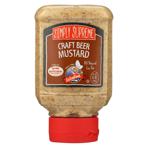Woeber'S Simply Supreme Craft Beer Mustard - Case Of 6 - 10 Oz.-Eco-Friendly Home & Grocery-Woeber's-EpicWorldStore.com