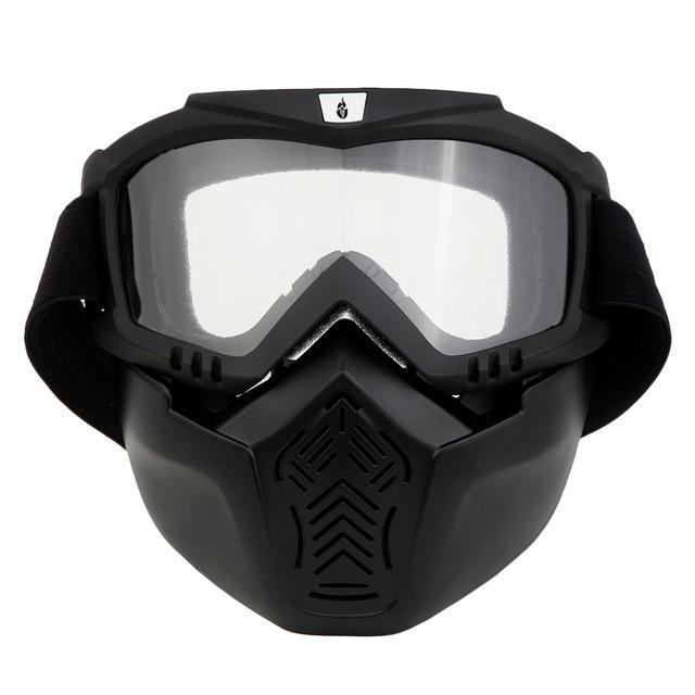 Wolfbike Men Women Windproof Snowboard Goggles Ski Glasses Motocross Glass  With Face Mask Protection-Shooting 564a5127c
