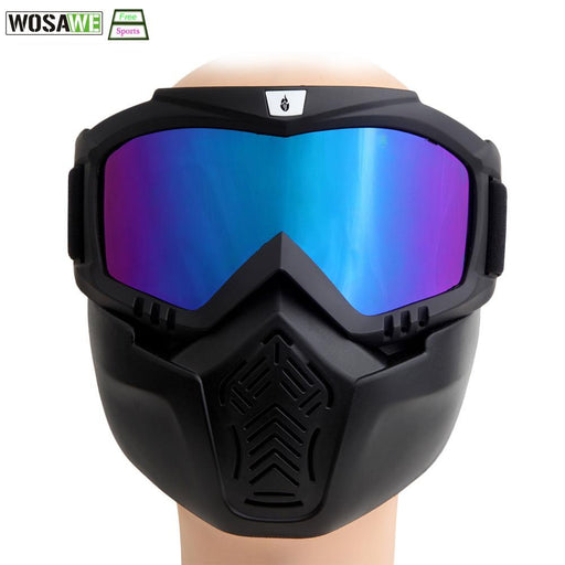 Wolfbike Men Women Windproof Snowboard Goggles Ski Glasses Motocross Glass With Face Mask Protection-Shooting-Diana Sports Products Co.,Ltd.-White-EpicWorldStore.com