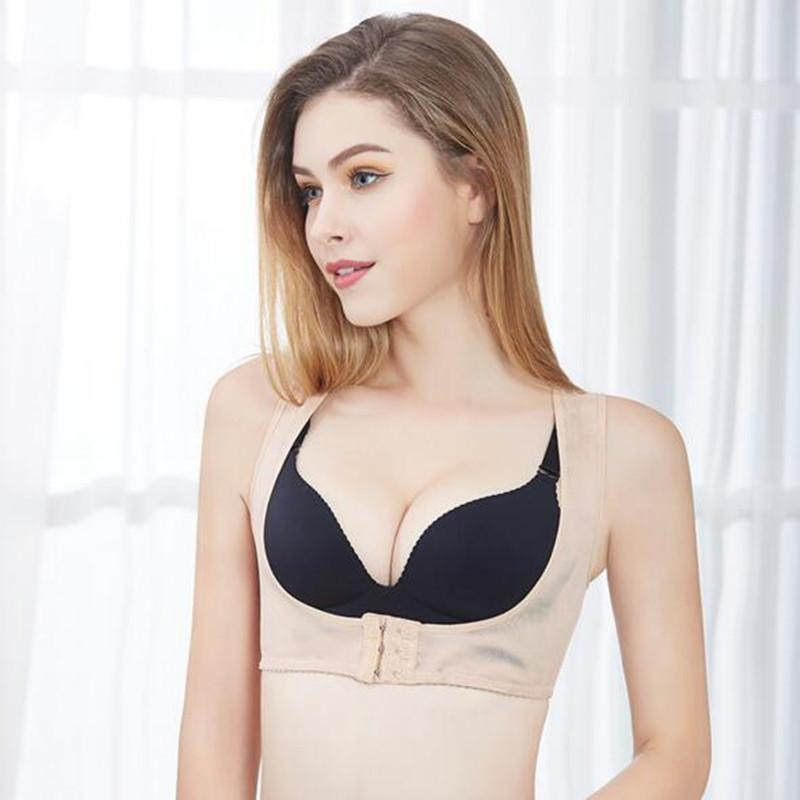 4a3e1998e0a58 Hot Shapers Back Corset Chest Adjustable Support Belt Scoliosis Posture  Humpback Corrective Band Body Shaper For Women