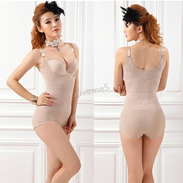 Women Lady Stylish Corset Slimming Suit Shapewear Body Shaper Magic Underwear Bra Up-Bustiers & Corsets-Sunshine Season-Beige-M-EpicWorldStore.com