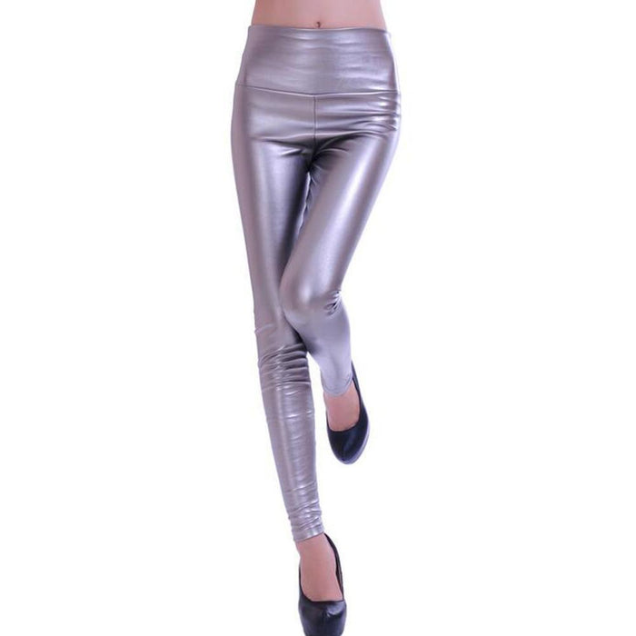 Women Leggings Faux Leather High Quality Slim Leggings Plus Size High Elasticity Stylish Pants-Bottoms-Qickitout Official Store-1-S-EpicWorldStore.com