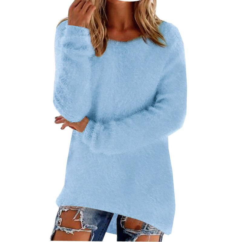 Women Long Sleeve Knitted Pullover Loose Sweater Jumper Tops Knitwear-Sweaters-Spring Dayday-black-S-EpicWorldStore.com