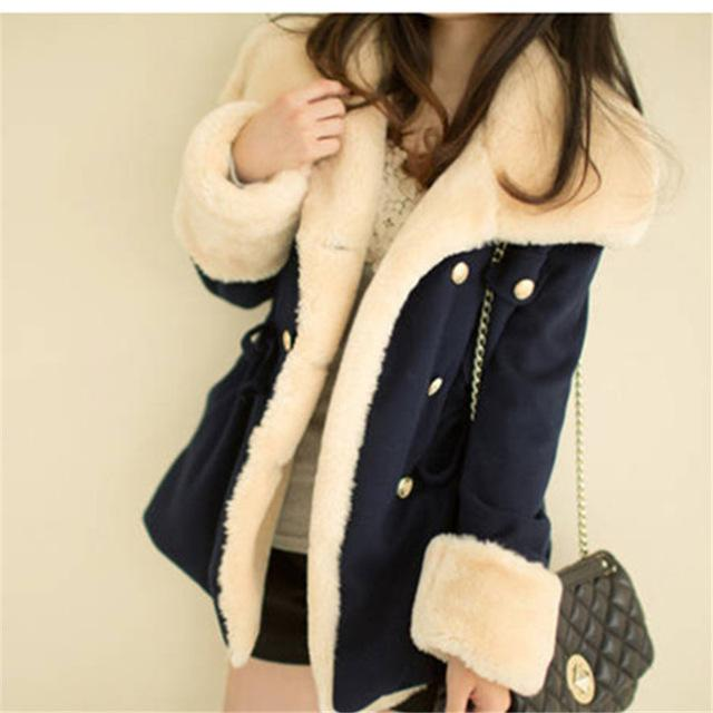 Women Parkas European Fashion Plaid Hooded Jacket Casual Loose Long Sleeve-Parkas-WSWG (Offer Drop Shipping ,OEM)-68601navy blue-S-EpicWorldStore.com