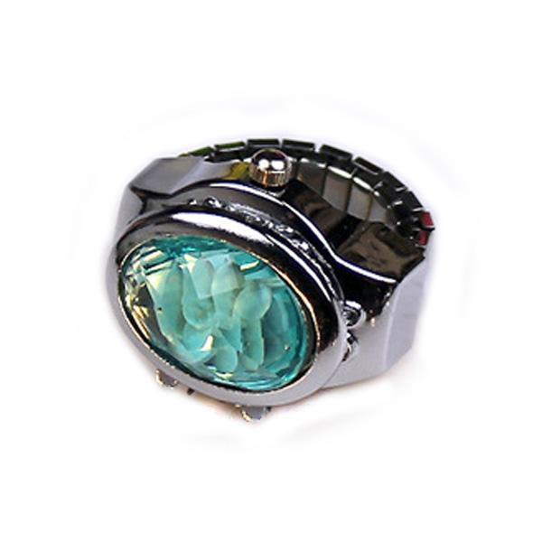 Women Ring Watch Elliptical Stereo Flower Ladies Clamshell Watches Adjustable Rings Quartz-Lover's Watches-Shop2882035 Store-As the picture9-EpicWorldStore.com