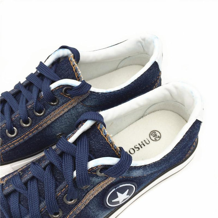 6aab17e06ee Women Sneakers Denim Canvas Shoes Star Summer Casual Shoes Trainers Walking  Skateboard Flats-Women s Vulcanize