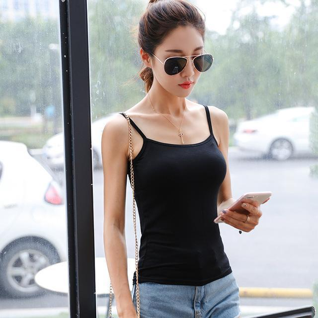 Women Stylish Harajuku Mesh Net See Through T Shirt Hollow Transparent Undershirt Star Dot Base Top-Tops & Tees-SHE'S Wholesale Store-Black Camisole-EpicWorldStore.com
