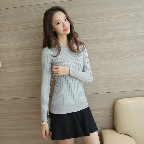 Women Sweater High Elastic Solid Turtleneck Fall Winter Sweater Women Slim Stylish-Sweaters-AOSSVIAO Store-Gray-EpicWorldStore.com