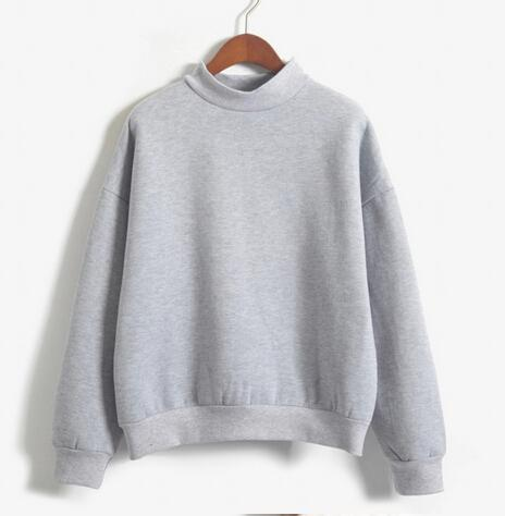 Women Sweatshirt Europe And The United States Candy Color Code Loose Long Sleeve Harajuku Style-Hoodies & Sweatshirts-The best store-grey-M-EpicWorldStore.com