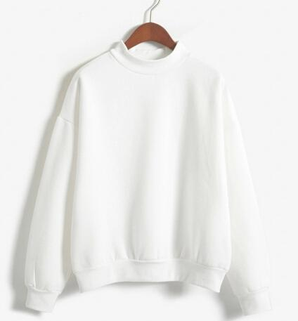Women Sweatshirt Europe And The United States Candy Color Code Loose Long Sleeve Harajuku Style-Hoodies & Sweatshirts-The best store-white-M-EpicWorldStore.com