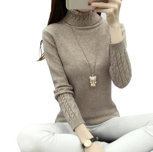 Women Turtleneck Winter Sweater Women Long Sleeve Knitted Women Cashmere Casual-Sweaters-LUOLIANG Store-Black-S-EpicWorldStore.com