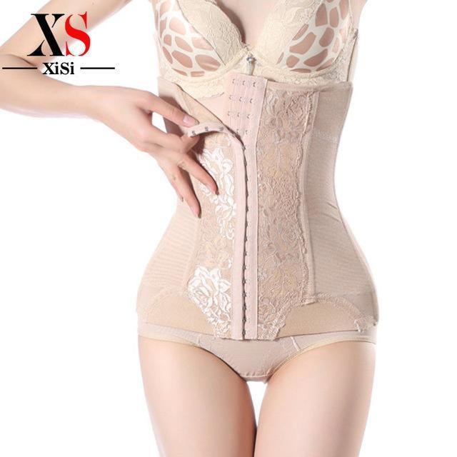 9f91f2e4a78 Women Waist Trainer Corset With Steel Boning Stylish Body Shapers Shapewear  Black Waist Cincher-Bustiers